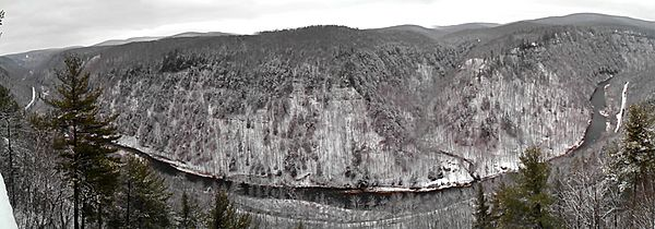 Pine creek gorge winter