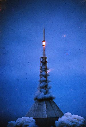Rocket launch Churchill Manitoba circa 1965 07