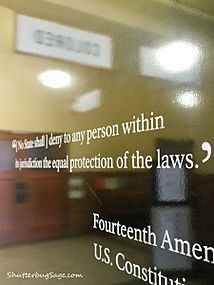 14th Amendment Sign at the Brown v Board of Education Historical Site