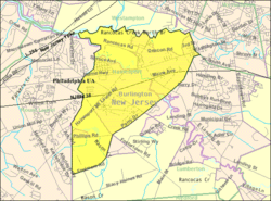 Census Bureau map of Hainesport Township, New Jersey
