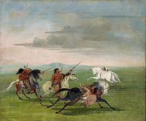 Comanche Feats of Horsemanship-George Catlin