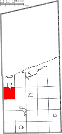 Location of Harpersfield Township in Ashtabula County