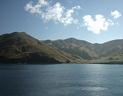 The Marlborough Sounds seen from the Wellington–Picton ferry