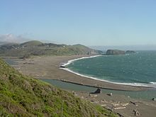Russian River mouth on California coast