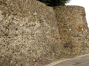 The Roman Town Wall, East Hill to Queen Street 2