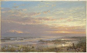 Brooklyn Museum - A High Tide at Atlantic City - William Trost Richards - overall