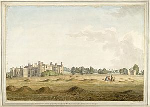 Cowdray House by Samuel Hieronymus Grimm 1781