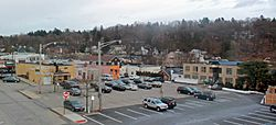 Downtown Chappaqua from the NY 120 overpass