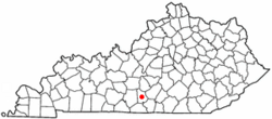 Location of Edmonton, Kentucky