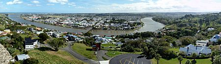 Panorama Wanganui from Durie Hill, April 2012