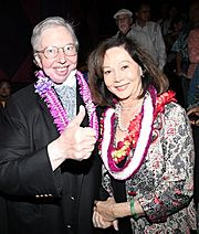 Roger Ebert and Nancy Kwan at the Hawaii International Film Festival in October 2010