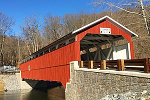 Schlicher Covered Bridge, reconstructed - south view