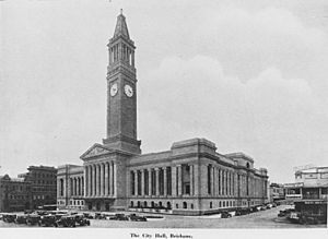 StateLibQld 1 190023 City Hall in Brisbane around ca. 1930