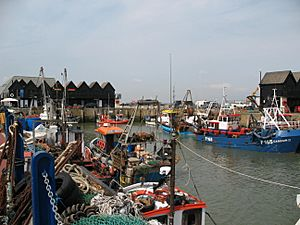 Whitstable Harbour, Kent, UK