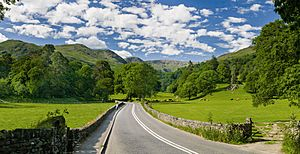 A591 road, Lake District - June 2009 Edit 1