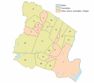 Essex County, New Jersey Municipalities