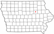 Location of Waterloo, Iowa
