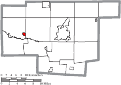 Location of New Bloomington in Marion County