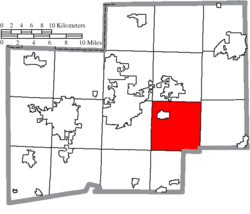 Location of Osnaburg Township in Stark County