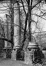 Millwood (Ruins), detail, U.S. Route 76 (Garners Ferry Road), Columbia vicinity (Richland County, South Carolina)