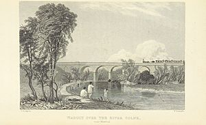 Roscoe L&BR(1839) p073 - Viaduct over the River Colne near Watford