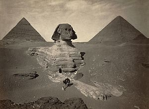 Sphinx partially excavated2