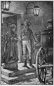 06 Citizen Lebat takes Marie out of Prison-Illust by Johan Schonberg for In the Reign of Terror by G A Henty