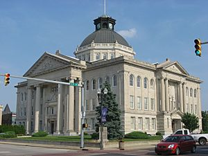 Boone County Courthouse in Lebanon from northwest