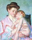 Cassatt Mary Sleepy Baby 1910