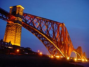 Forth bridge evening