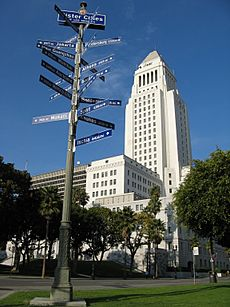 Los Angeles City Hall with sister cities 2006