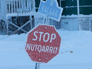 Nutqarrit - Stop sign in CYCB