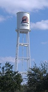 The water tower in Alice on Hwy 44