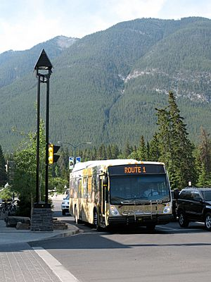 Banff Alberta Roam bus on Route 1