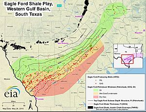 EIA Map of Eagle Ford Shale Play