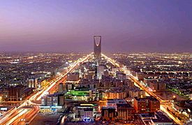 Central Riyadh, with the Kingdom Centre tower visible