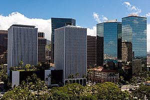 The Business District of Honolulu