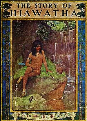 The Story of Hiawatha - from The Story of Hiawatha, Adapted from Longfellow by Winston Stokes and Henry Wadsworth Longfellow - Illustrator M. L. Kirk - 1910