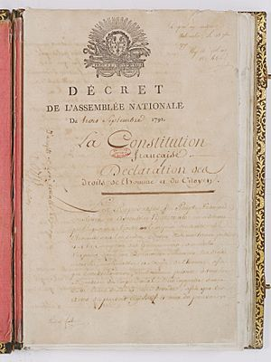 Constitution de 1791. Page 1 - Archives Nationales - AE-I-10-1
