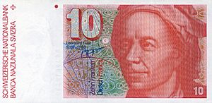 Euler-10 Swiss Franc banknote (front)