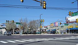 The intersection of Frankford and Cottman Avenues in Mayfair
