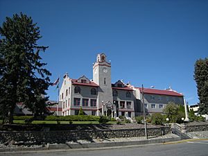 Okanogan County courthouse in Okanogan