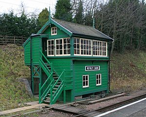 Rothley signal box on the Great Central Railway heritage railway Leicestershire