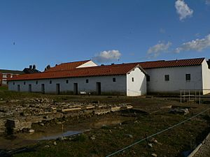 Arbeia Roman Fort reconstructed barracks
