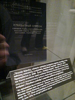 KGB traitors list seen in Museum of Genocide Victims Vilnius
