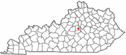 Location of Harrodsburg, Kentucky