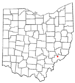 Location of Lowell, Ohio