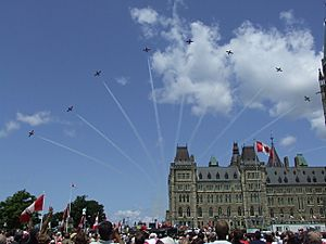 Canada Day 2008 Snowbirds over Parliament