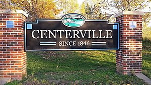 Centerville Iowa East Entrance Sign