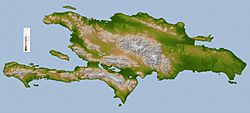 Topographic map of Hispaniola